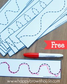 Tracing Lines Busy Bag | Happy Brown House