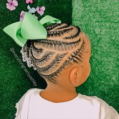 Little Girl Braid Hairstyles, Little Black Girls Braids, Natural Braided Hairstyles, Black Kids Hairstyles, Baby Girl Hairstyles, Natural Hairstyles For Kids, Natural Hair Styles, Little Girls, Braids For Kids