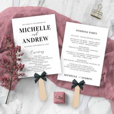 Minimalist Wedding Program Template Printable Wedding Program - You can edit this wedding fan template to your wishes - edit all text, change font and color, ad a background color or even your own photos - you have total control Printable Wedding Programs, Wedding Program Fans, Wedding Fans, Modest Wedding, Boho Wedding, Wedding Ideas, Free Wedding Templates, Program Template, Wedding Announcements