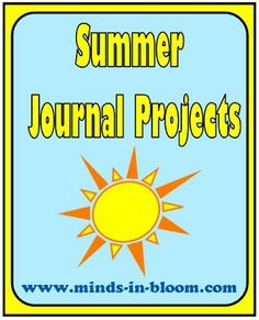 Five Fun Summer Journal Ideas to keep your kids engaged this summer!minds-in-bloo. Writing Resources, Teaching Resources, Teaching Ideas, Summer Journal, Summer Slide, Summer Activities For Kids, Toddler Activities, Cool Writing, Summer School