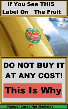 If You See THIS Label On The Fruit Do Not Buy It at Any Cost!