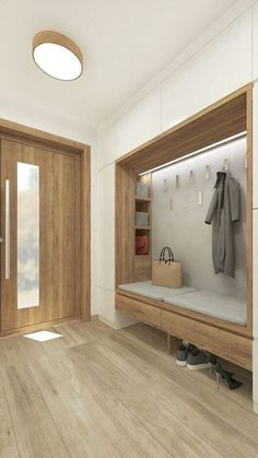 Plan of the Entrance Nachhall in the Etagenwohnung … – # un…design # of the Etagenwohnung # Entrance Nachhall Hallway Ideas Entrance Narrow, Entrance Hall, Modern Hallway, Home Design, Home Interior Design, Save For House, Porch Decorating, Mudroom, Entryway Decor
