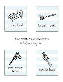 Biblical Homemaking: free printable chore cards & tutorial