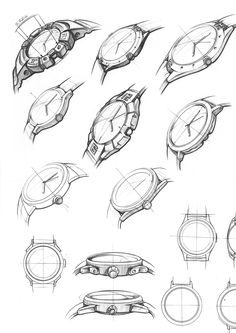 Vooc watch design on behance watch sketches, illustration sketches, drawing Structural Drawing, Technical Drawing, Basic Drawing, Illustration Sketches, Drawing Sketches, Drawings, Watch Sketches, Sketching, Drawing Ideas