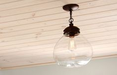 "Lighting: allen and roth 12"" bronze pendant light with clear shade #198671"