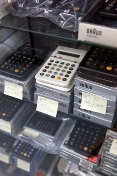 Calculators: ET 55, ET 66 and others, Braun Archive, Kronberg, Frankfurt, Germany
