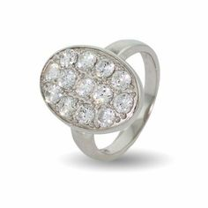 Bella's Oval Pave CZ Wedding Ring Eve's Addiction. $48.00. Approximate Weight: 6 grams. TCW: 1.3 carats