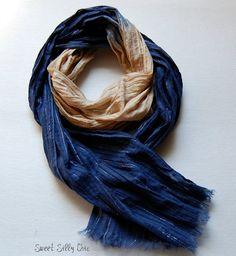 ravenclaw inspired lightweight scarf blue bronze spring summer scarf harry potter hogwarts scarf ravenclaw
