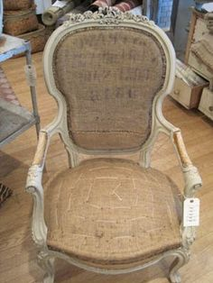 another burlap chair but I can't get enough