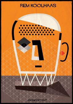 Las Últimas Ilustraciones de Federico Babina: ARCHIPORTRAIT,Rem Koolhaas. Image Courtesy of Federico Babina