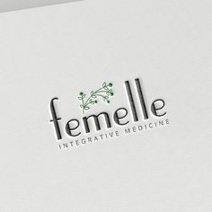 Bohemian   modern   natural   feminine logo for an integrative women's health clinic - Femelle Integrative Medicine. by Art-Box