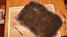 Make your own carbon paper/transfer paper using matte black spray paint