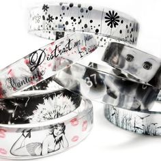 Graphic Clear Bangle Bracelet by BuyMyCrap - I love them all!!!!
