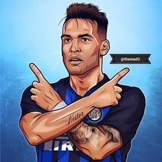"""Reposting @themad3: ... """"EL TORO! @lautaromartinezz10 . #eltoro #lautaromartinez #lautaro #martinez #racing #fcinternazionale #fcinter #inter #pazzainter #amala #design #vector #digital #art #photoshop #curvanord #argentina #sport #football #soccer #nike #bomber #sketch #drawing #instaart #instagood #picoftheday #followme"""" Milan Football, Retro Football, Football Art, Football Players, Sport Football, Coco Costume, Lionel Messi Wallpapers, Soccer Kits, Supergirl And Flash"""