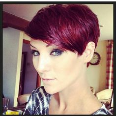 Best Pixie Hairstyles to inspire and show us how to style the pixie haircut. Choose one and then enjoy the cute and charming pixie hairstyle. Short Pixie Haircuts, Pixie Hairstyles, Short Hair Cuts, Cool Hairstyles, Short Hair Styles, Red Pixie Haircut, Red Pixie Cuts, Short Wavy, Hairdos