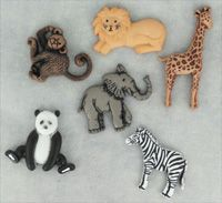 Jesse James Buttons ~ Dress It Up WILD THING 3600~ ZOO  ~ Sewing ~ Scrap