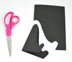 Paper easel for displaying for holding up recipe cards for each menu item