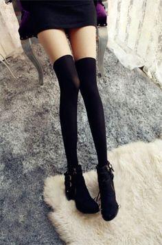 Harajuku Tights Japanese Stitching False Thigh Peach Heart Stockings False High Tube Female Long Pantyhose Women Tights