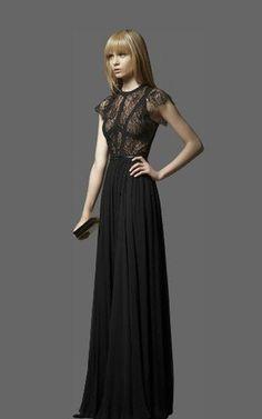 Elie Saab Terra Short Sleeve Classic Long BCBG Dress Black [Elie Saab Terra Long BCBG Black] - $189.00 : Cheap herve leger and BCBG dresses on sale