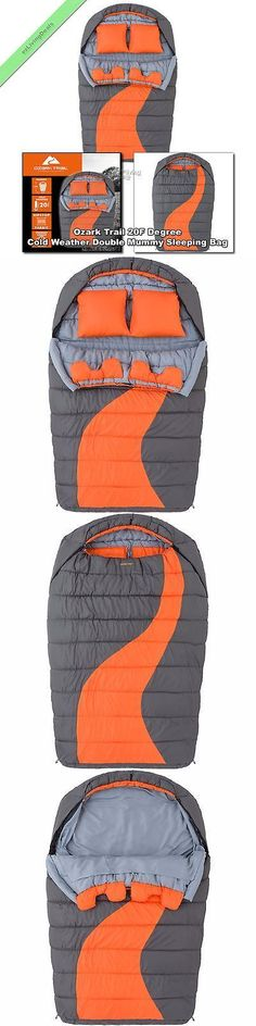 Other Camping Sleeping Gear 16040: Ozark Trail Cold Weather Double Mummy Sleeping Bag 2 Person Adults Camping Bags -> BUY IT NOW ONLY: $102.57 on eBay!