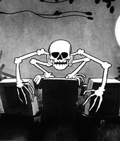 Discover & Share this Skeleton GIF with everyone you know. GIPHY is how you search, share, discover, and create GIFs. Scary Art, Spooky Scary, Creepy, Vintage Cartoons, Old Cartoons, Cartoon Gifs, Cartoon Art, Skeleton Dance, Black And White Cartoon