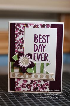 I wanted to play along with MojoMonday again this week, and thought that it would be fun to use the 'Best Day Ever' SAB stamp set, since we. Best Day Ever, Stampin Up, About Me Blog, Create, Fun, Image, Foil Stamping, Lol, Funny