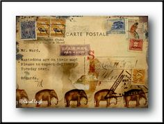 """Mastodons Are On Their Way"" by collage artist Carol Leigh"
