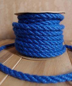 6mm Blue Jute Twine 10 Yards Jute Twine, Burlap, Cord, Nautical Knots, Lace Decor, Beaded Trim, Packaging Ideas, Tool Design, Event Decor