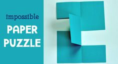 Try out the impossible paper puzzle with your kids. This fun paper trick is a clever brain teaser for all ages and will make you gasp,