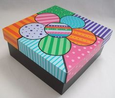 caja con pintura a mano - Pesquisa Google