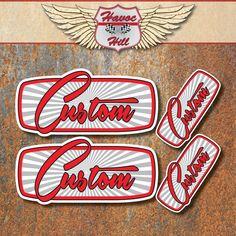 CUSTOM+STICKER+SET+Car+Hot+Rat+Rod+Motorbike+Bobber+Chopper+Cafe+Racer+Decals+GR