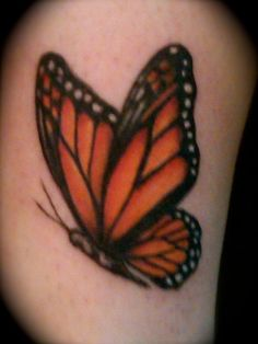monarch butterfly tattoo | Jessica Brennan's Tattoo Portfolio: Tattoo; Color, Monarch Butterfly