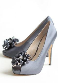 Chantelle Embellished Heels In Midnight Blue | Modern Vintage Shoes | Modern Vintage Sale