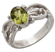 Himalayan Gems Sterling Silver Gemstone Ring - PERIDOT