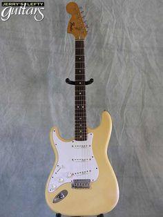 lefty guitars | front view left hand guitar Fender Standard Stratocaster 1975