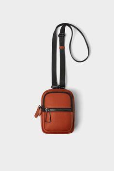 ZARA - Male - Orange mini crossbody bag - Orange - M Fall Handbags, Cheap Handbags, Cheap Bags, Handbags On Sale, Purses And Handbags, Luxury Handbags, Latest Handbags, Popular Handbags, Wholesale Handbags