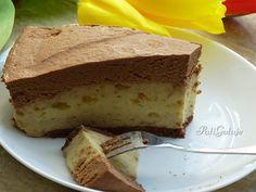 Ciasto z masą bananową z musem czekoladowym Cheesecake, Food, Meal, Cheesecakes, Essen, Hoods, Meals, Eten, Cheesecake Pie
