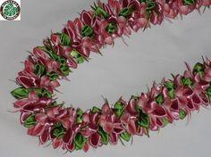 Plumeria - Monstera In Hawaii* Wai Lani* Ribbon Lei* リボンレイ メイキング 自宅教室