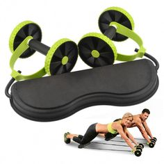 Back Belly Core Trainer Free Knee Pad Abdominal Exercise Wheel Ab Rollers Exerciser Fitness Workout Gym Roller Great For Arms