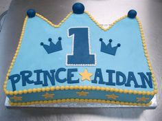 Here comes royalty! Crown your prince with a fitting cake on his first birthday. @Kim Vargas #PartyFlavors