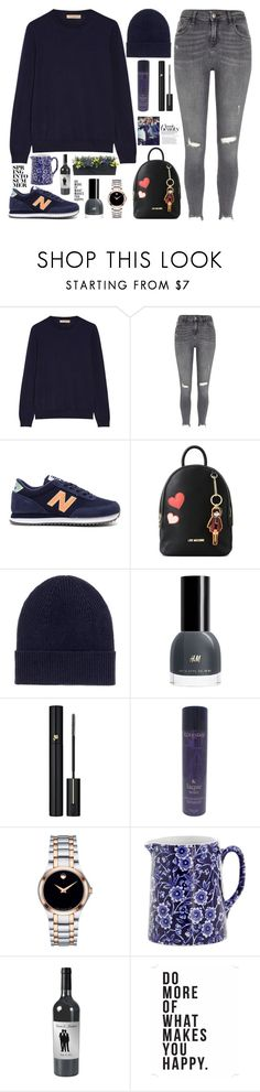 """""""style"""" by lena-volodivchyk ❤ liked on Polyvore featuring Burberry, River Island, New Balance, Love Moschino, Isabel Marant, Lancôme, Kérastase, Movado, Burleigh and Native State"""