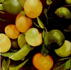 "Pedro Diego Alvarado-Rivera's ""Limones"" (2013, oil on linen). #art #food #painting #ruizhealyart"