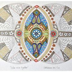 'When we're together' Mandala art by South African artist Lize Beekman http://artlizebeekman.com/shop-art-online/