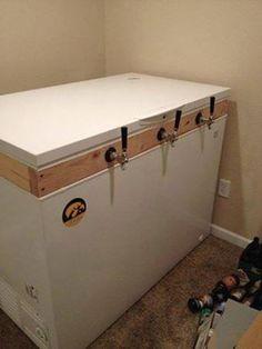Redneck deep freeze converted to a 3 tap beer dispenser!