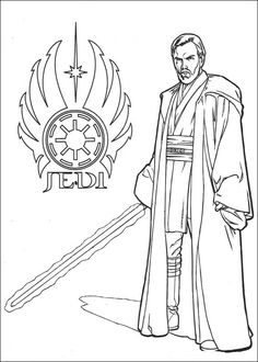coloring page Star Wars - Jedi