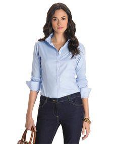 Non-Iron Tailored Fit Dress Shirt Blue