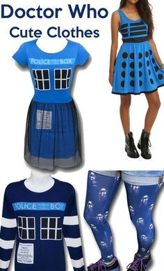 Cute Doctor Who & TARDIS clothing ideas!