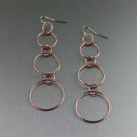 Chased Copper Chandelier Drop Earrings. Chandelier Earrings are always hot!   http://www.ilovecopperjewelry.com/chased-copper-chandelier-drop-earrings.html  $48.00