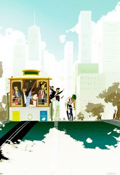 Pascal Campion - one of my favorite animator/Illustrator online did a feature on California Street - where I live!