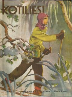 Martta Wendelin was a Finnish artist whose work was widely used to illustrate fairy tales and books, postcards, school books, magazine and book covers. Vintage Cards, Vintage Postcards, Ski, Newspaper Cover, Old Paintings, Children's Book Illustration, Christmas Art, Vintage Prints, Finland